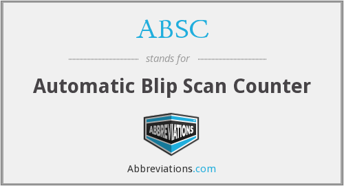 ABSC - Automatic Blip Scan Counter