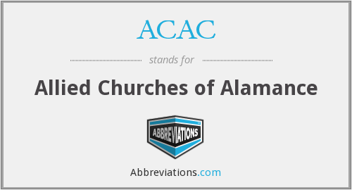 ACAC - Allied Churches of Alamance