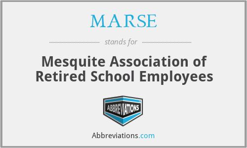 MARSE - Mesquite Association of Retired School Employees