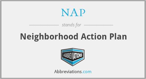 NAP - Neighborhood Action Plan