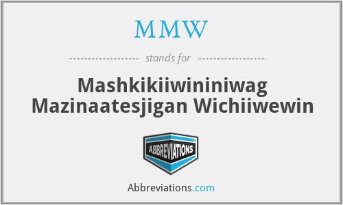 MMW - Mashkikiiwininiwag Mazinaatesjigan Wichiiwewin