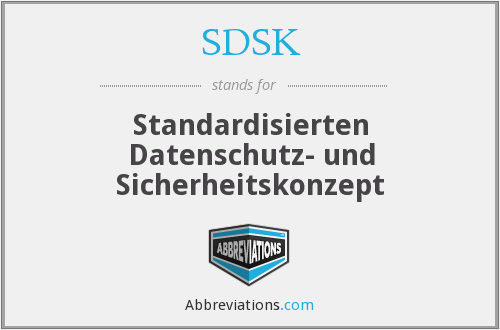 What does SDSK stand for?