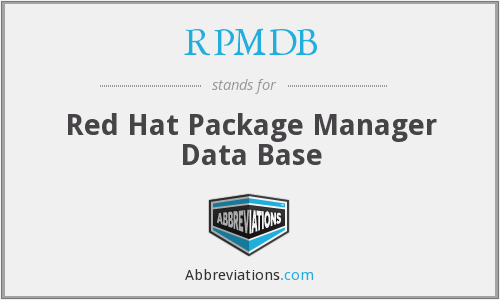 What does RPMDB stand for?