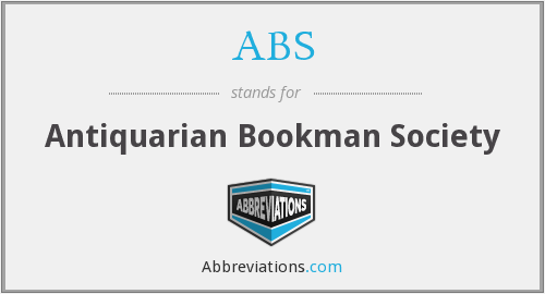 ABS - Antiquarian Bookman Society