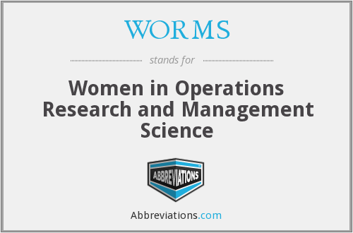 WORMS - Women in Operations Research and Management Science