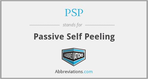 PSP - Passive Self Peeling