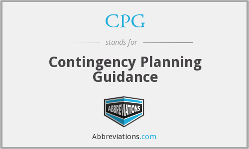 CPG - Contingency Planning Guidance