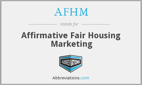 What does AFHM stand for?