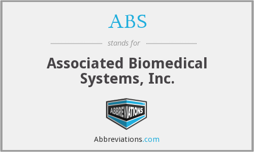 ABS - Associated Biomedical Systems, Inc.