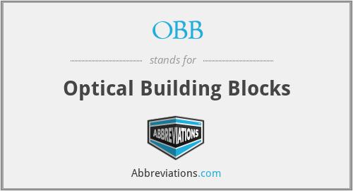 OBB - Optical Building Blocks