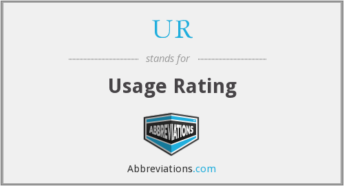 UR - Usage Rating