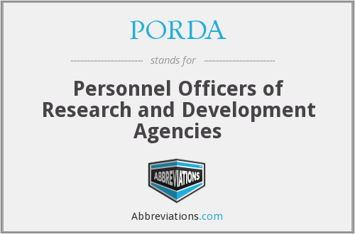 What does PORDA stand for?