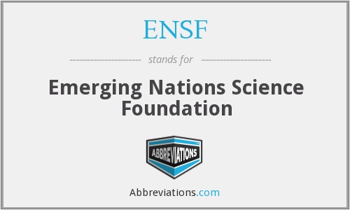 ENSF - Emerging Nations Science Foundation