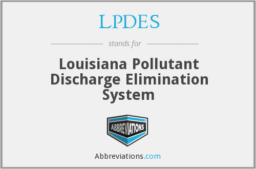 What does LPDES stand for?