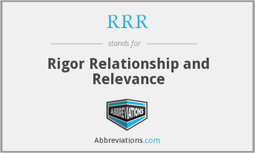 RRR - Rigor Relationship and Relevance