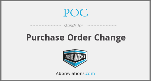 POC - Purchase Order Change