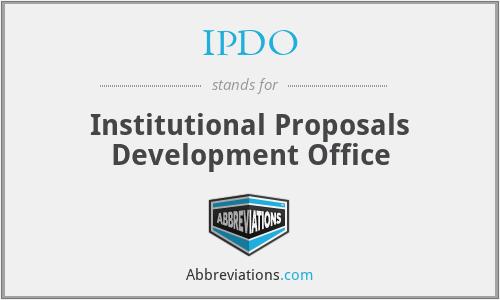 IPDO - Institutional Proposals Development Office