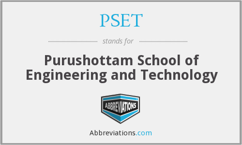 What does PSET stand for?