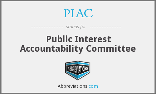 PIAC - Public Interest Accountability Committee