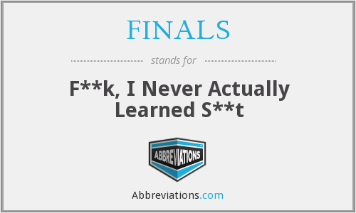 What does FINALS stand for?