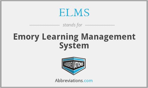 ELMS - Emory Learning Management System