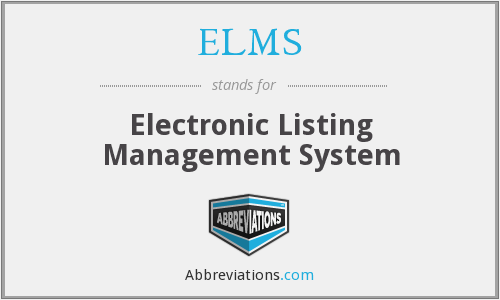 ELMS - Electronic Listing Management System