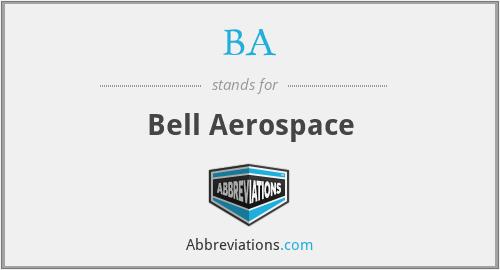 BA - Bell Aerospace