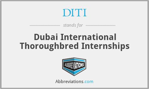 DITI - Dubai International Thoroughbred Internships