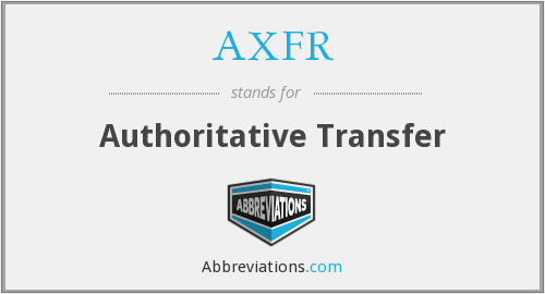 What does AXFR stand for?