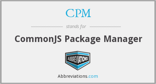 CPM - CommonJS Package Manager