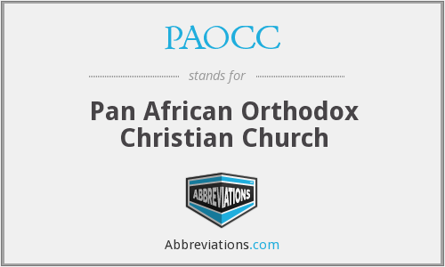 PAOCC - Pan African Orthodox Christian Church