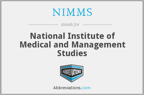 What does NIMMS stand for?