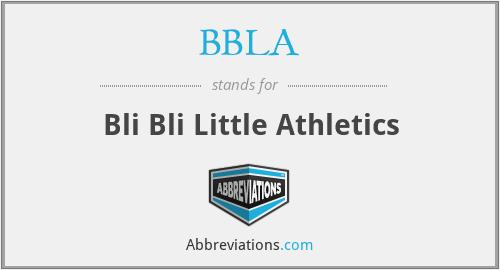 BBLA - Bli Bli Little Athletics
