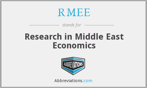 RMEE - Research in Middle East Economics