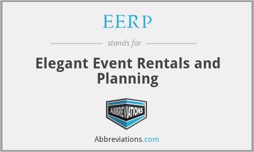EERP - Elegant Event Rentals and Planning