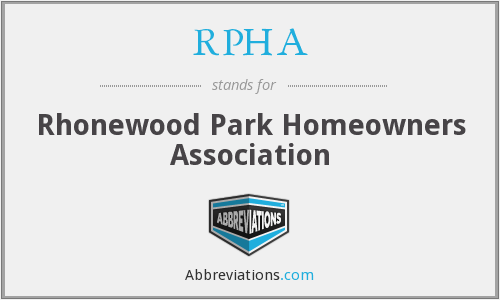 What does RPHA stand for?
