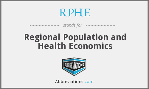 What does RPHE stand for?