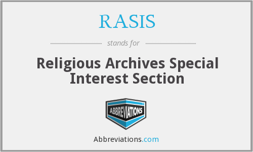 RASIS - Religious Archives Special Interest Section