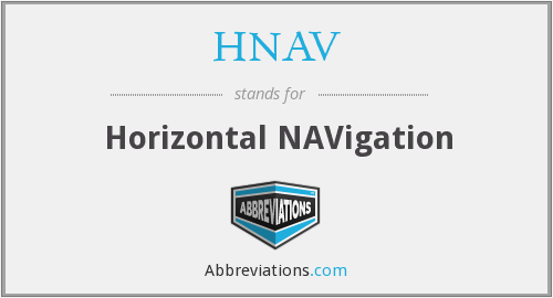 What does HNAV stand for?