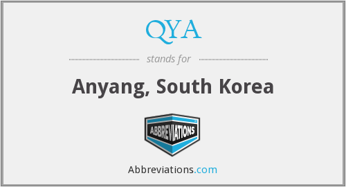 QYA - Anyang, South Korea