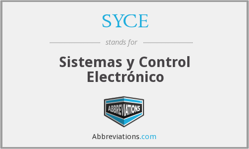 What does SYCE stand for?