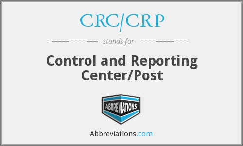 What does CRC/CRP stand for?