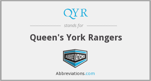QYR - Queen's York Rangers