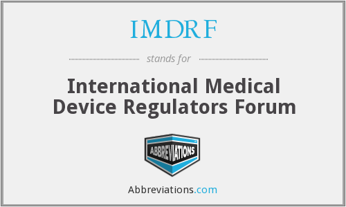 What does IMDRF stand for?
