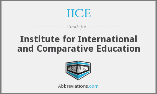 What does IICE stand for?