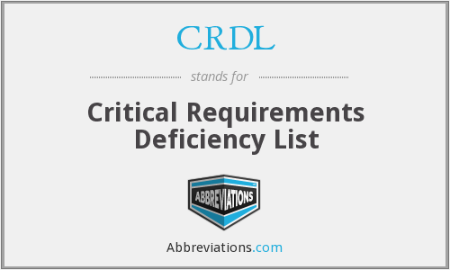 What does CRDL stand for?