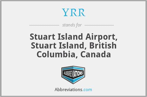 YRR - Stuart Island Airport, Stuart Island, British Columbia, Canada