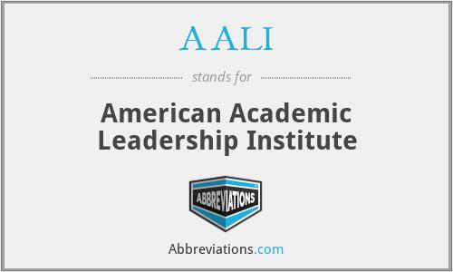 AALI - American Academic Leadership Institute