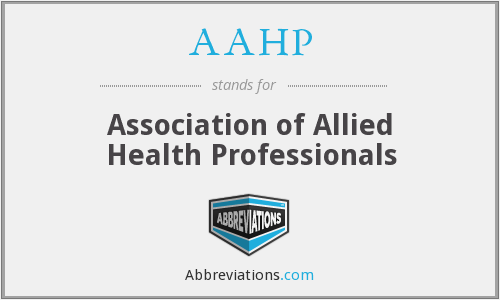 AAHP - Association of Allied Health Professionals