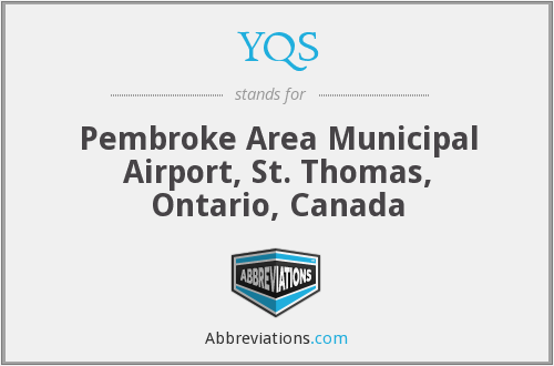 YQS - Pembroke Area Municipal Airport, St. Thomas, Ontario, Canada